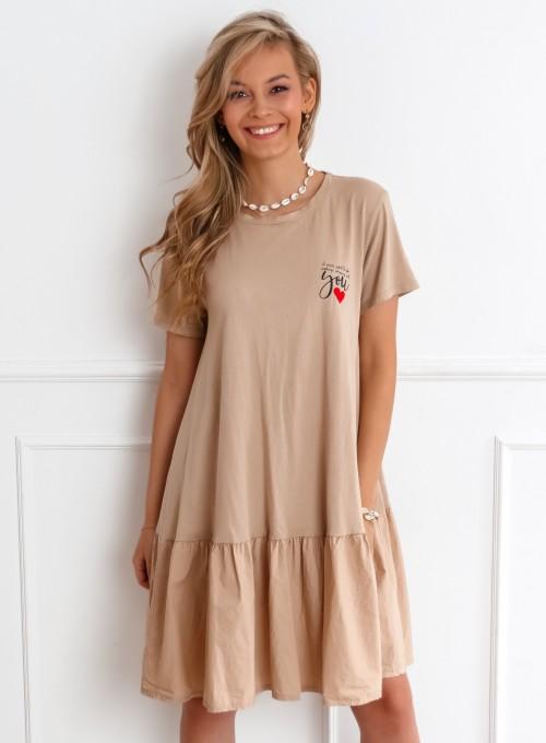 Sukienka YOU beżowa 3