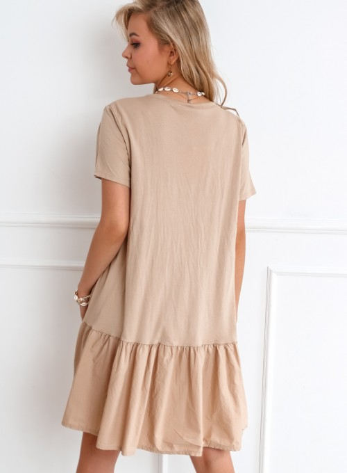 Sukienka YOU beżowa 2