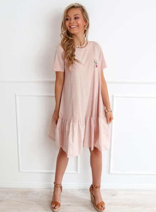Sukienka YOU pudrowa 1