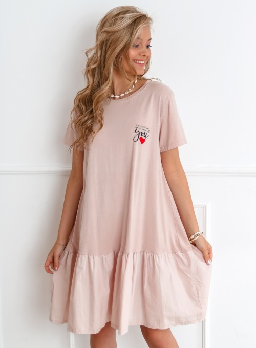 Sukienka YOU pudrowa 2
