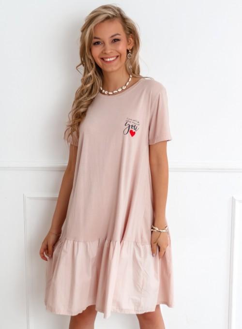 Sukienka YOU pudrowa 3
