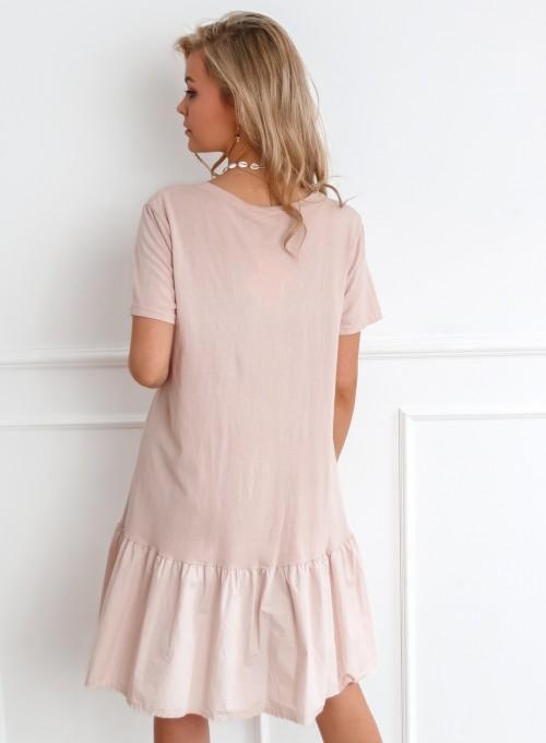 Sukienka YOU pudrowa 5