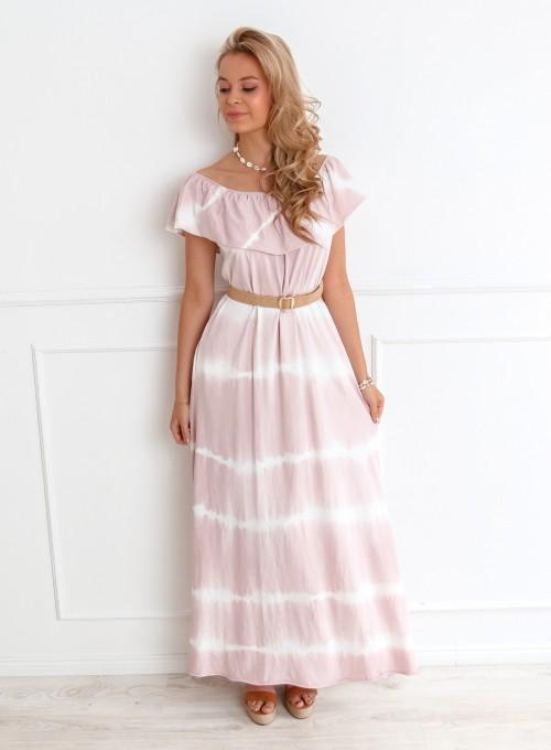 Sukienka Storm maxi pudrowa