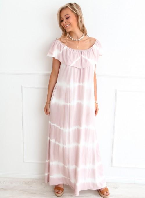 Sukienka Storm maxi pudrowa 1
