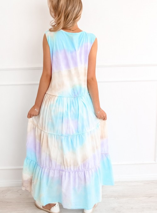 Sukienka Rainbow maxi 1