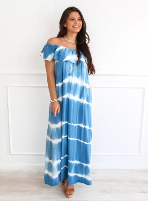 Sukienka Storm maxi blue jeans 2