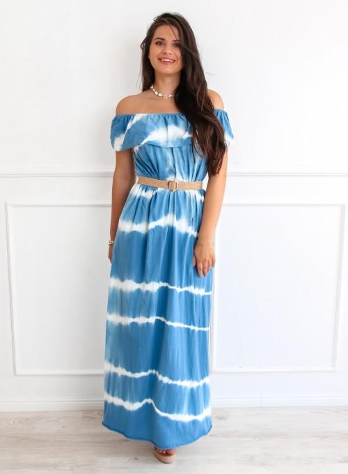 Sukienka Storm maxi blue jeans 3
