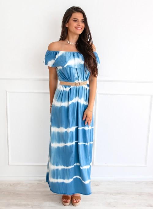 Sukienka Storm maxi blue jeans 4