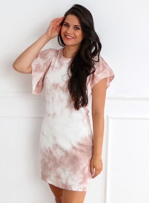 Sukienka Blanca pudrowa 2