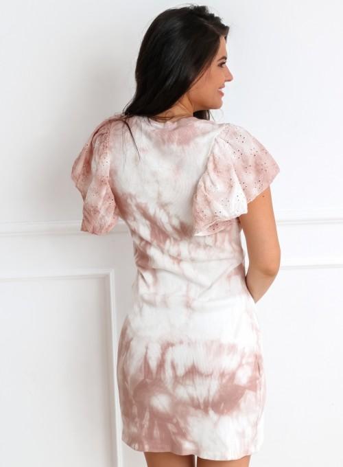 Sukienka Blanca pudrowa 6