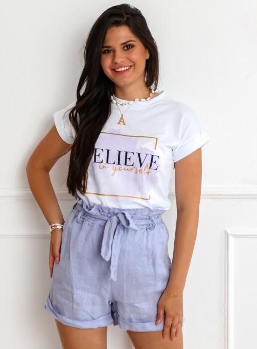 T-shirt Believe biały 1