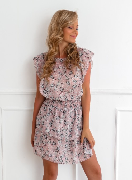 Sukienka Bari pudrowa