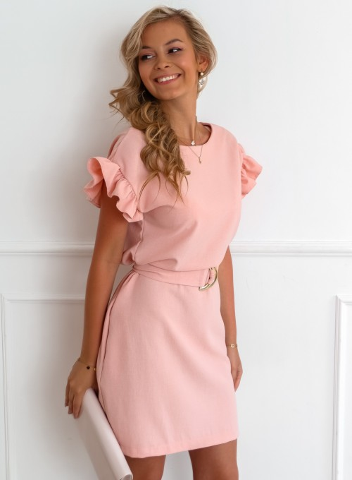 Sukienka Proby pudrowa
