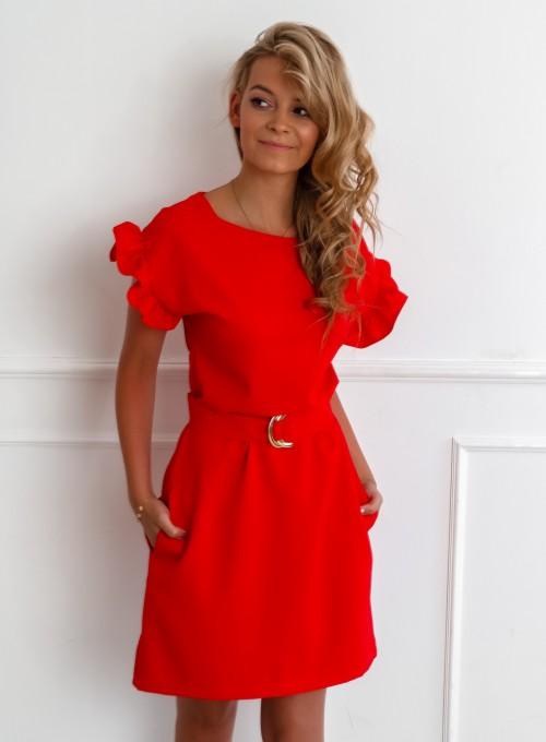 Sukienka Proby czerwona