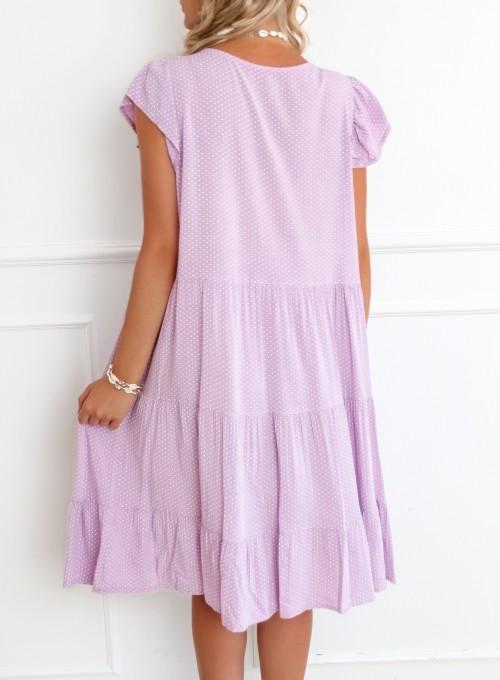 Sukienka Pati liliowa w groszki 6