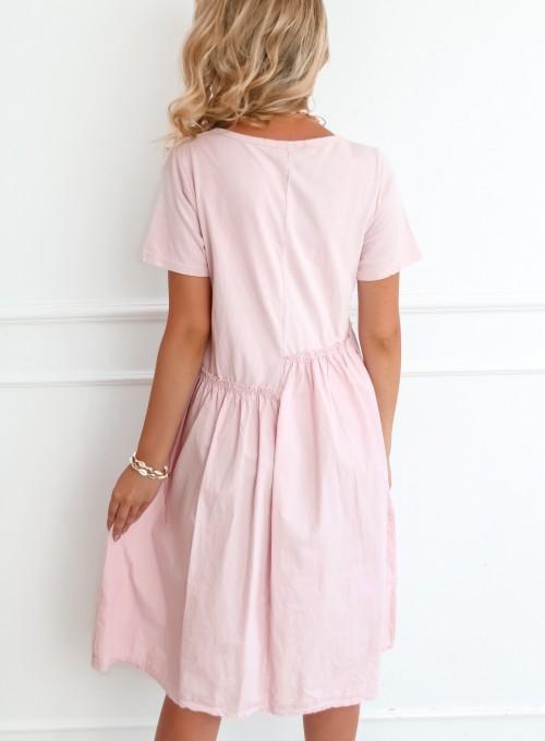 Sukienka Donna pudrowa 4