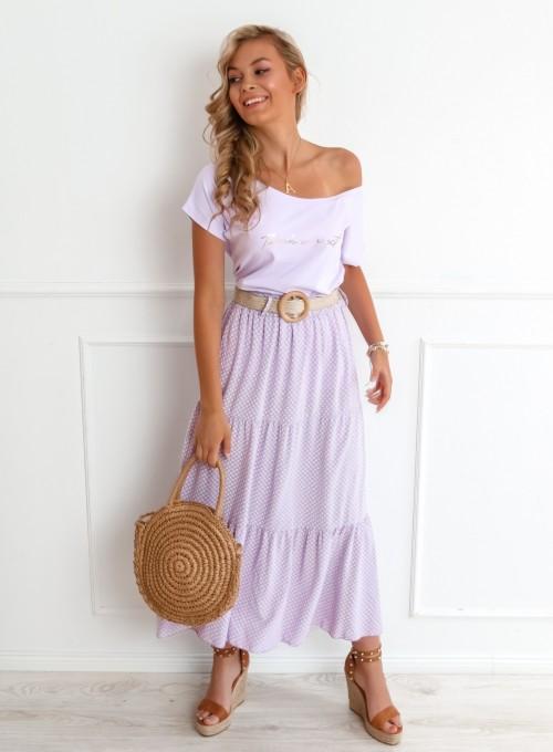 Spódnica Mia liliowa 3