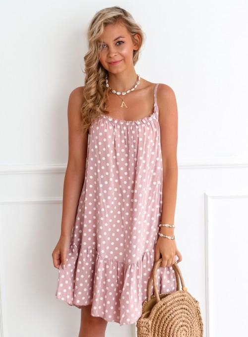 Sukienka Albero pudrowa