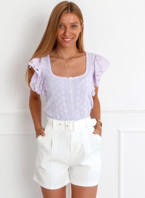 Bluzka Debra liliowa
