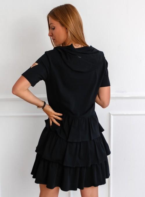 Sukienka Massimo czarna 4