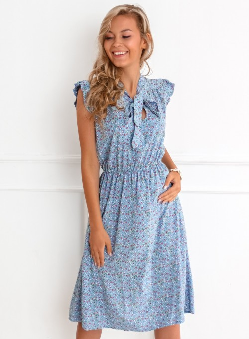 Sukienka Luisa blue jeans flower