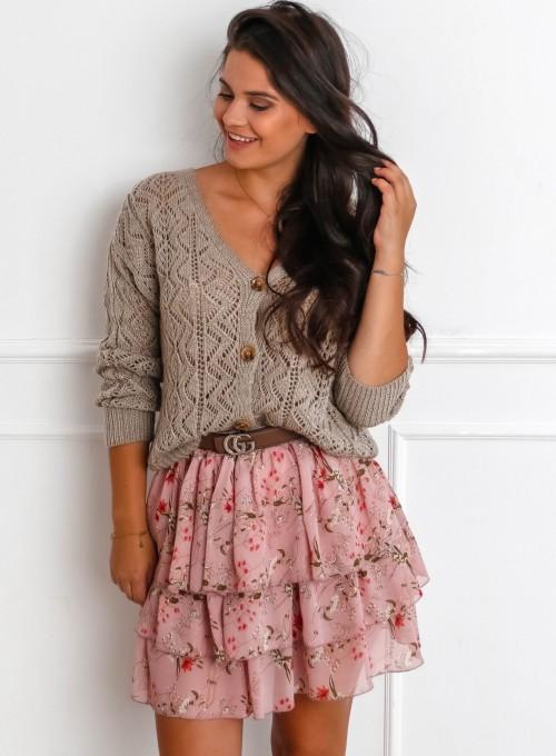 Sweter ażurowy Allis beżowy