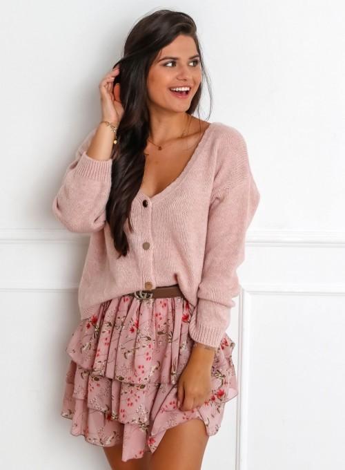 Sweter Velvet pudrowy