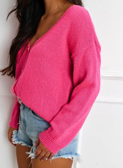 Sweter Velvet fuksja 5