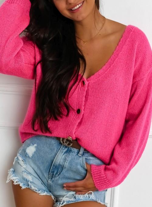 Sweter Velvet fuksja 1