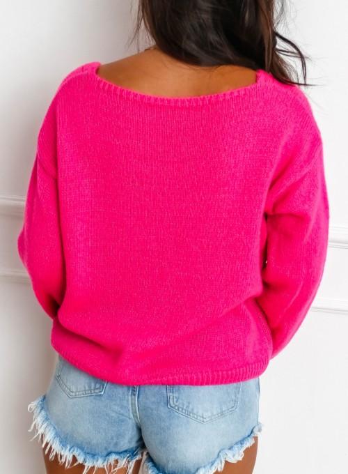 Sweter Velvet fuksja 6