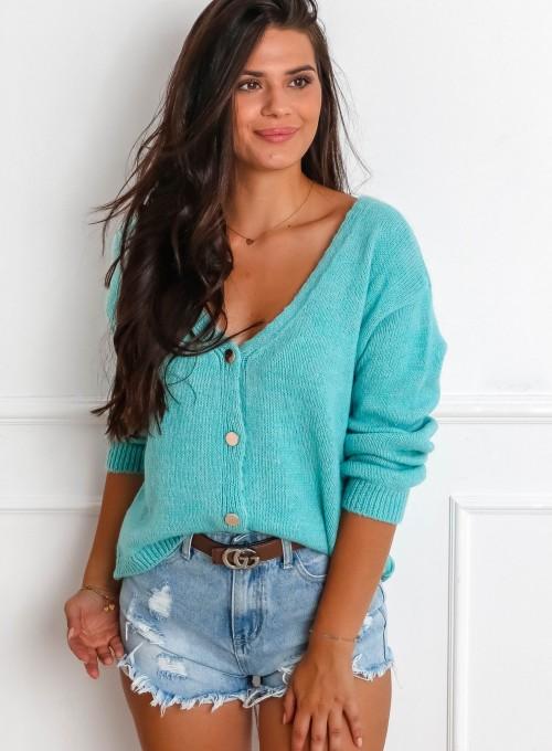 Sweter Velvet miętowy