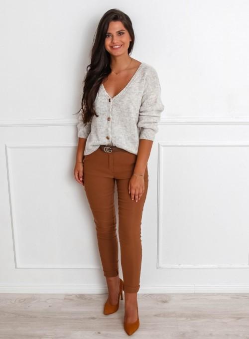 Spodnie Zinni karmelowe 2