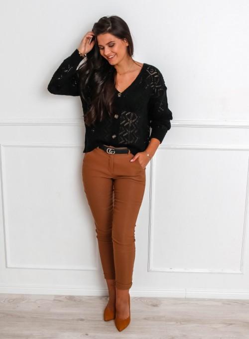 Spodnie Zinni karmelowe 1