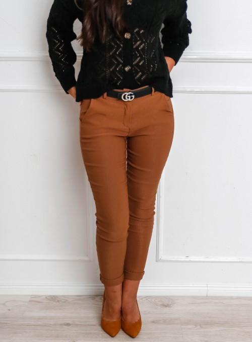 Spodnie Zinni karmelowe 4