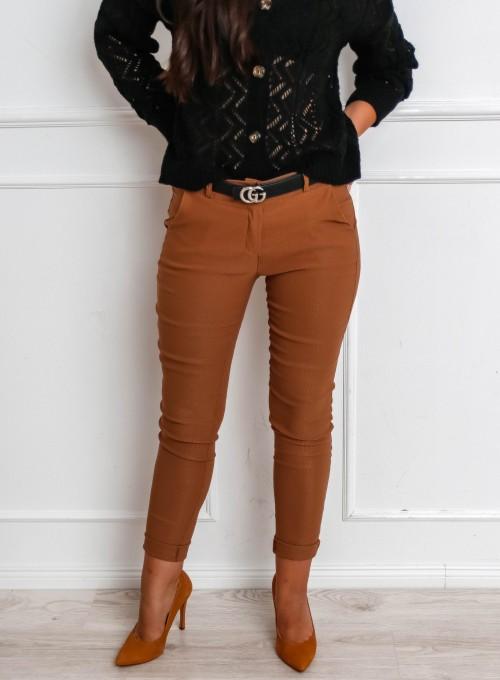 Spodnie Zinni karmelowe 5