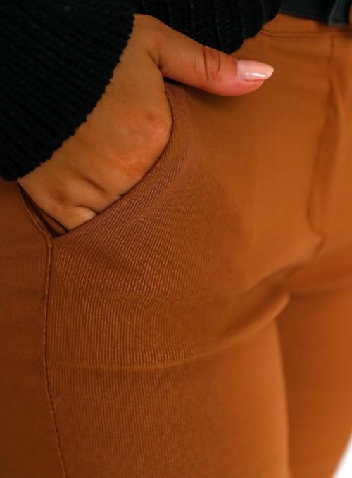 Spodnie Zinni karmelowe 6