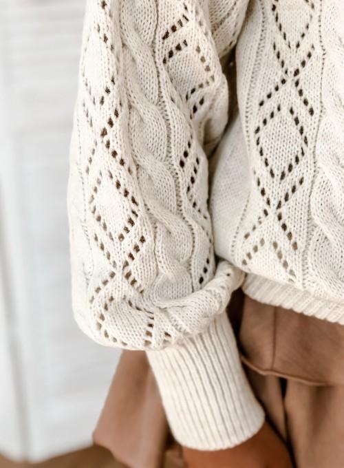 Sweter Wonder śmietankowy 8