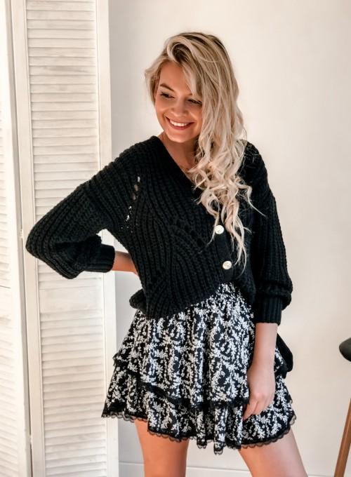 Rozpinany sweter Elen czarny 3