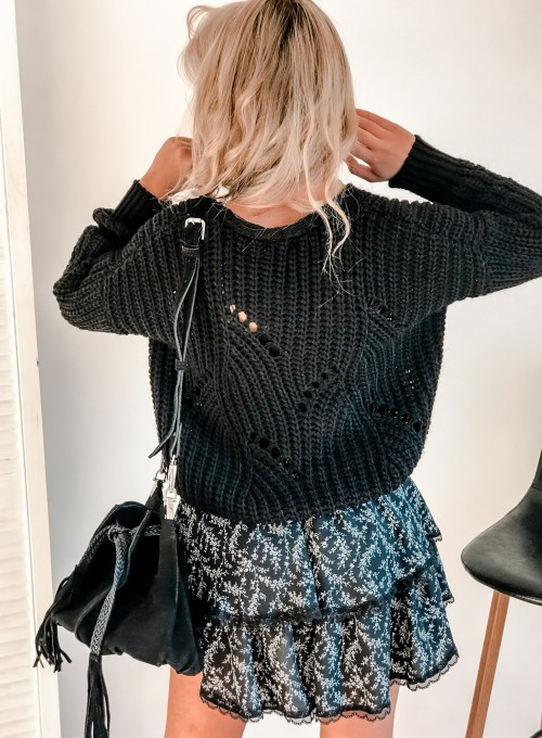 Rozpinany sweter Elen czarny 7