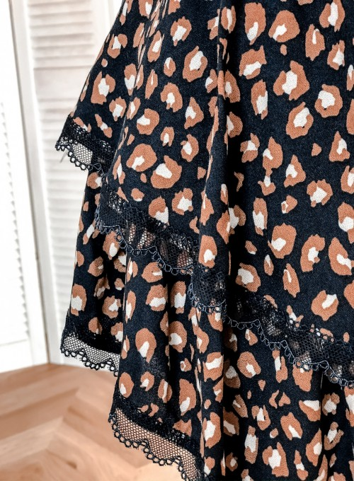 Spódnica Riki granatowo-karmelowa, panther 7
