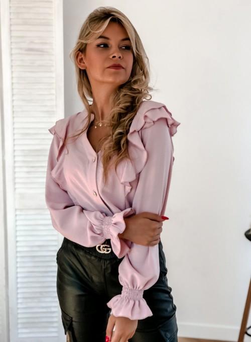Koszula Ana pudrowa 2