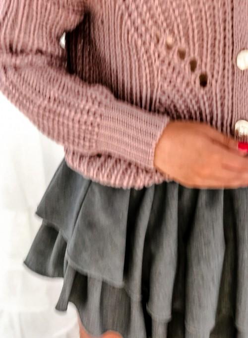 Rozpinany sweter Elen brudny róż 5