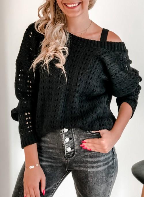 Sweter Karmen czarny 1