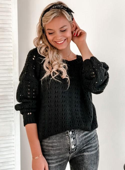 Sweter Karmen czarny 5