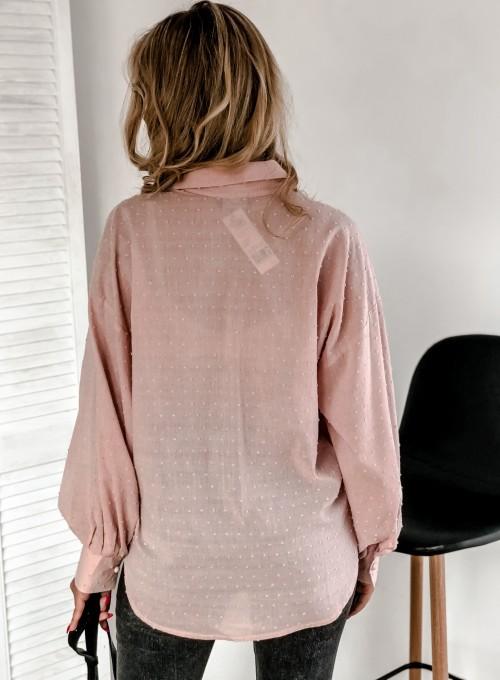 Koszula Natia pudrowa 2