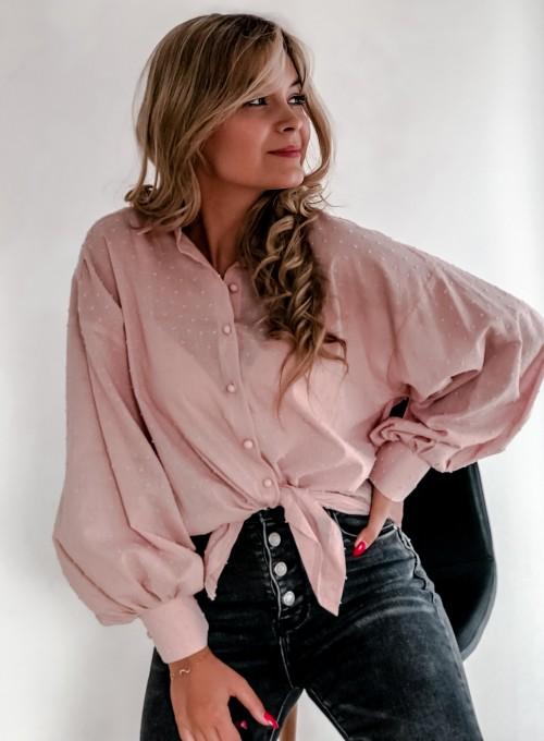 Koszula Natia pudrowa