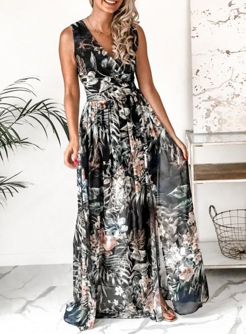 Sukienka Ibiza granatowa 1