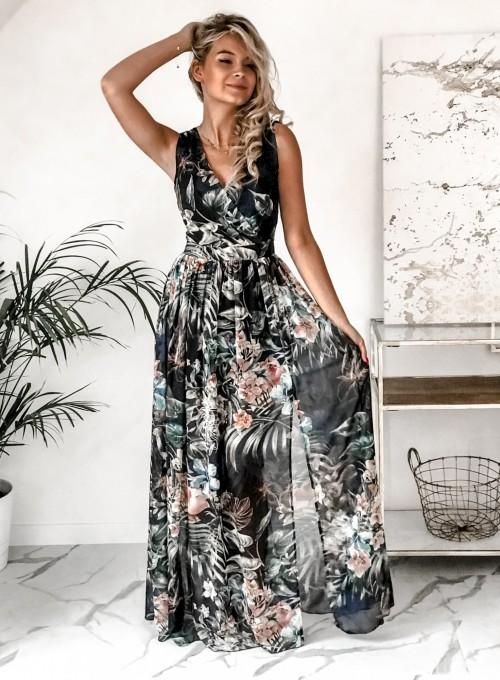 Sukienka Ibiza granatowa 2