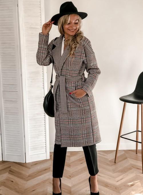 Płaszcz Nina zawiązywany