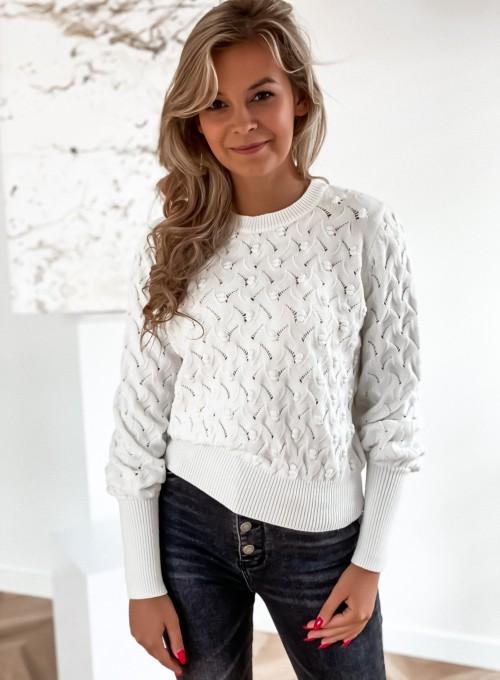 Sweter Naomi śmietankowy 2